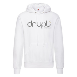 Drupt hoodie White fade logo black