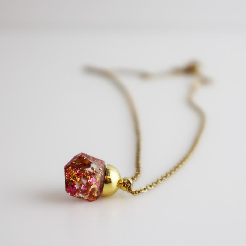 Drupt Hanger Crystal Gold Rose