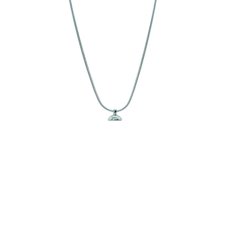 Drupt Silver Snake Necklace 1mm (50cm)