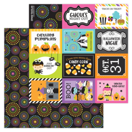 """Spook-tacular 12x12"""" Double Sided 12x12""""  - Unit of 5"""