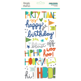 Birthday Blast Foam Stickers - Unit of 3
