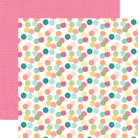 "Hip Hop Hooray Bunny Tails Double Sided 12x12"" - Unit of 5"