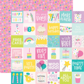 """Magical Birthday  2x2 Elements Double Sided 12x12"""" - Unit of 5"""