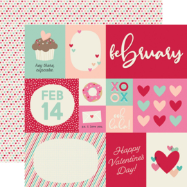"Best Year Ever February Double Sided 12x12"" - Unit of 5"