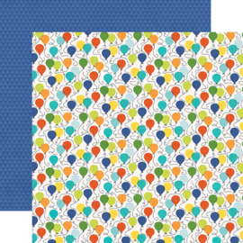 "Birthday Blast Birthday Boy Double Sided 12x12"" - Unit of 5"