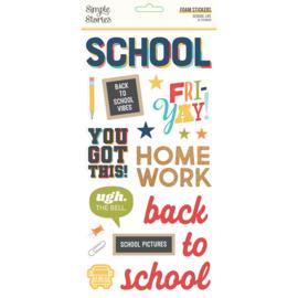 School Life - Foam Stickers- Unit of 3