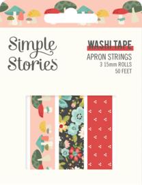 Apron Strings   - Washi Tape - Unit of 3