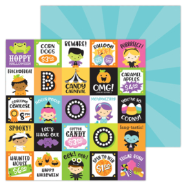 """Fun & Games 12x12"""" Double Sided 12x12""""  - Unit of 5"""
