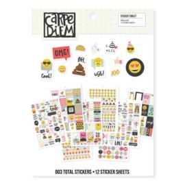 A5 Emoji Love Sticker Tablet - Unit of 3