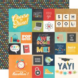 School Life - 2x2 & 4x4 Elements - Unit of 5