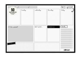 Weekly Planner Pad Black - Unit of 1