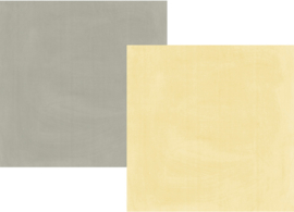 "Heart Simple Basics Yellow/Grey Double Sided 12x12"" - Unit of 5"