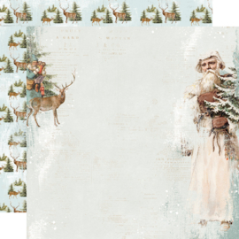 """Country Christmas Joyous Noel Double Sided 12x12"""" - Unit of 5"""