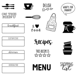 On the Menu Stamps - Unit of 3