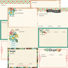 "Apron Strings -  Recipe Cards Double Sided 12x12"" - Unit of 5"
