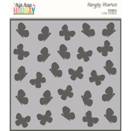 Hip Hop Hooray 6x6 Stencil-Butterflies - Unit of 3