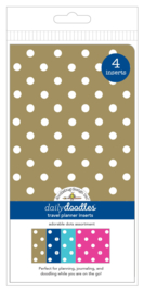 Adorable Dots Daily Doodles Travel Planner Inserts - Unit of 1