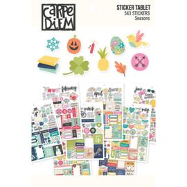 Seasons Sticker Tablet - Unit of 3