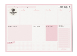 Weekly Planner Pad Pink - Unit of 1
