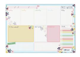 Weekly Planner Pad Ditsy Floral- Unit of 1