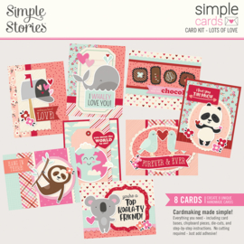 Simple Cards Card Kit - Lots of Love - Unit of 3