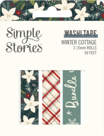 Winter Cottage- Washi Tape - Unit of 3