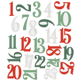 Country Christmas Number Pocket Pieces - Unit of 3