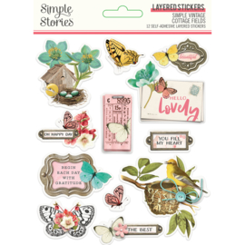 SV Cottage Fields - Layered Stickers - Unit of 3