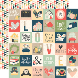 "So Happy Together 2x2 Elements Double Sided 12x12"" - Unit of 5"