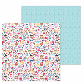 "French Kiss Double Sided 12x12""  - Unit of 5"