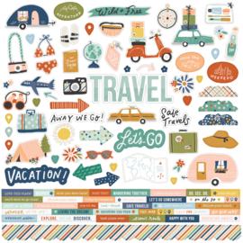 Safe Travels - Cardstock Sticker  - unit of 3