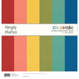Color Vibe Textured Cardstock Kit - Bolds  - Unit of 3