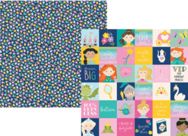 "Little Princess 2x2 Elements Double Sided 12x12"" - Unit of 5"