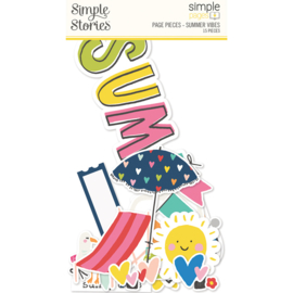 Simple Pages Page Pieces - Summer Vibes - unit of 6