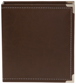 Brown 6x8 Leather Binder - Unit of 2