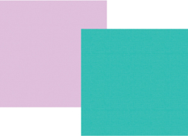 "Teal/Lavender Double Sided 12x12"" - Unit of 5"