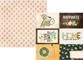 """Spring Farmhouse 4x6 Elements Double Sided 12x12"""" - Unit of 5"""
