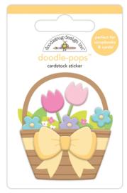 Flower Basket Mini Doodlepop - Unit of 3