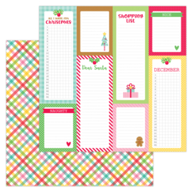 """Plaidsome Tidings 12x12"""" Double Sided 12x12""""  - Unit of 5"""