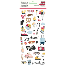 Say Cheese Main Street - Puffy Stickers - Unit of 3