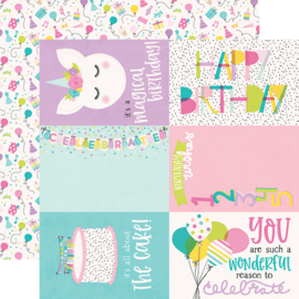 """Magical Birthday  4x6 Elements Double Sided 12x12"""" - Unit of 5"""