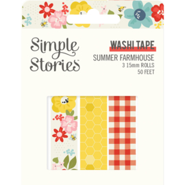 Summer Farmhouse Washi Tape - Unit of 3