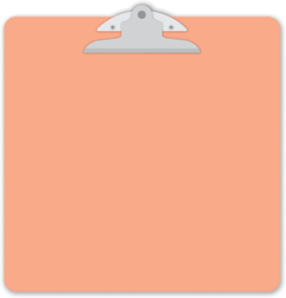 Coral Tangerine Clipart - Unit of 1