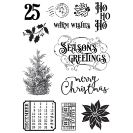Country Christmas 4x6 Stamps - Unit of 2