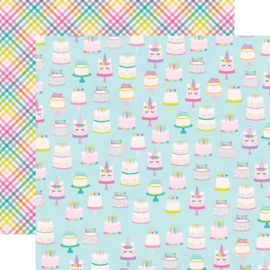 """Magical Birthday  Make a Wish Double Sided 12x12"""" - Unit of 5"""