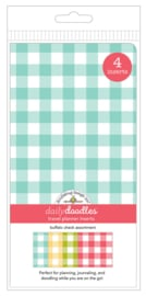 Buffalo Check Daily Doodles Travel Planner Inserts - Unit of 1