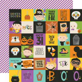 "Say Cheese Halloween 2x2 Elements  Double Sided 12x12"" - Unit of 5"