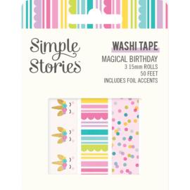 Magical Birthday  Washi Tape - Unit of 3