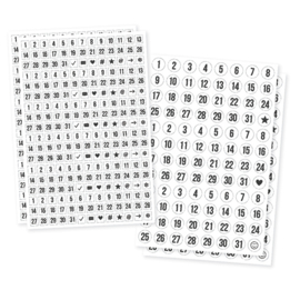 Planner Essentials Clear Number Stickers - Unit of 3