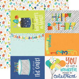 "Birthday Blast 4x6 Elements Double Sided 12x12"" - Unit of 5"